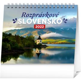 Stolový kalendár Rozprávkové Slovensko 2022, 16,5 × 13 cm