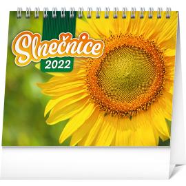 Stolový kalendár Slnečnice s citátmi 2022, 16,5 × 13 cm