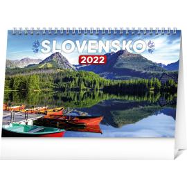 Stolový kalendár Slovensko 2022, 23,1 × 14,5 cm