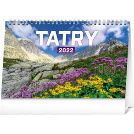 Stolový kalendár Tatry 2022, 23,1 × 14,5 cm