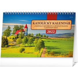 Stolový Katolícky kalendár 2022, 23,1 × 14,5 cm