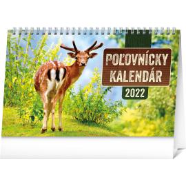 Stolový Poľovnícky kalendár 2022, 23,1 × 14,5 cm