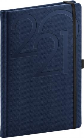 Týždenný diár Ajax 2021, modrý, 15 × 21 cm