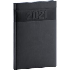 Týždenný diár Aprint 2021, čierny, 15 × 21 cm