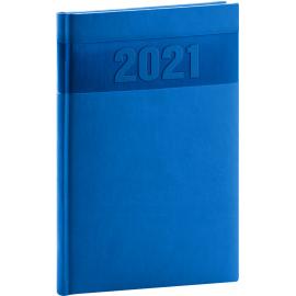 Týždenný diár Aprint 2021, modrý, 15 × 21 cm