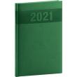 Týždenný diár Aprint 2021, zelený, 15 × 21 cm