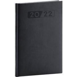 Týždenný diár Aprint 2022, čierny, 15 × 21 cm