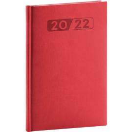 Týždenný diár Aprint 2022, červený, 15 × 21 cm