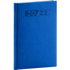 Týždenný diár Aprint 2022, modrý, 15 × 21 cm