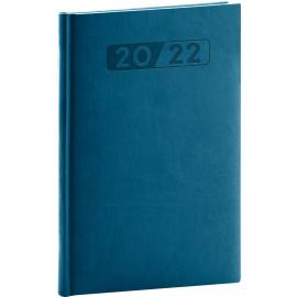 Týždenný diár Aprint 2022, petrolejovo modrý, 15 × 21 cm