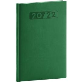 Týždenný diár Aprint 2022, zelený, 15 × 21 cm