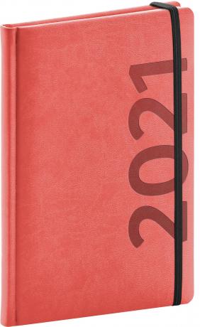 Týždenný diár Avilla 2021, oranžovo-čierny, 15 × 21 cm