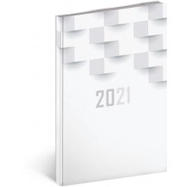 Týždenný diár Cambio Classic 2021, biely, 15 × 21 cm