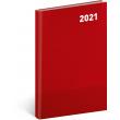 Týždenný diár Cambio Classic 2021, červený, 15 × 21 cm