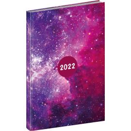Týždenný diár Cambio Fun 2022, Galaxy, 15 × 21 cm