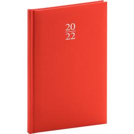Týždenný diár Capys 2022, červený, 15 × 21 cm