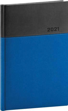 Týždenný diár Dado 2021, modro-čierny, 15 × 21 cm