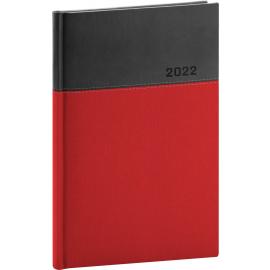 Týždenný diár Dado 2022, červeno–čierny, 15 × 21 cm