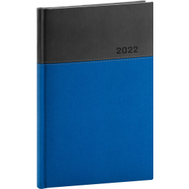 Týždenný diár Dado 2022, modro–čierny, 15 × 21 cm