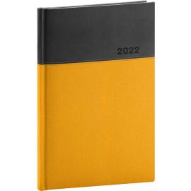 Týždenný diár Dado 2022, žlto–čierny, 15 × 21 cm