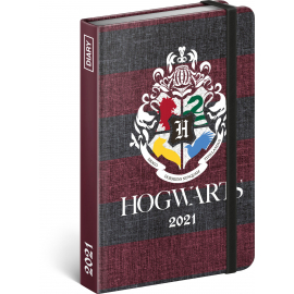 Týždenný diár Harry Potter – Hogwarts 2021, 11 × 16 cm