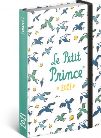 Týždenný diár Malý princ – Vtáci 2021, 11 × 16 cm
