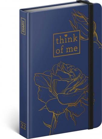 Týždenný diár Ruže – Think of me 2022, 11 × 16 cm