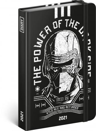 Týždenný diár Star Wars – Kylo Ren 2021, 11 × 16 cm