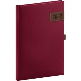Týždenný diár Tarbes 2022, červený, 15 × 21 cm