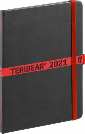 Týždenný diár Teribear 2021, 15 × 21 cm