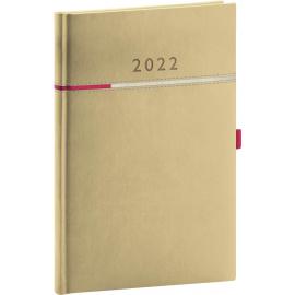 Týždenný diár Tomy béžovo–ružový, 2022 15 × 21 cm