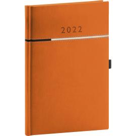 Týždenný diár Tomy oranžovo–čierny, 2022 15 × 21 cm