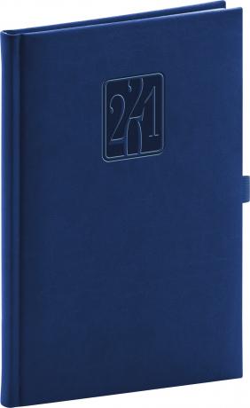 Týždenný diár Vivella Classic 2021, modrý, 15 × 21 cm