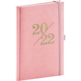 Týždenný diár Vivella Fun 2022, ružový, 15 × 21 cm