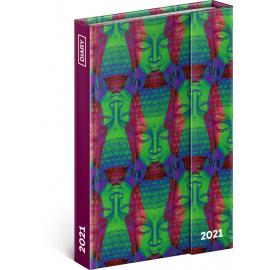 Týždenný magnetický diár Buddha 2021, 11 × 16 cm