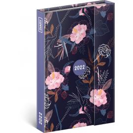 Týždenný magnetický diár Kvety 2022, 11 × 16 cm