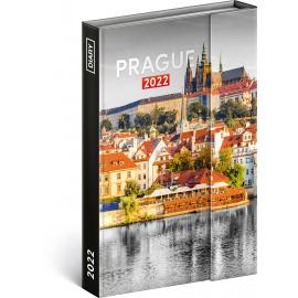 Týždenný magnetický diár Praha 2022, 11 × 16 cm