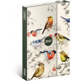 Týždenný magnetický diár Vtáky 2022, 11 × 16 cm