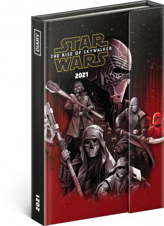 Týždenný magnetický diár Star Wars 2021, 11 × 16 cm