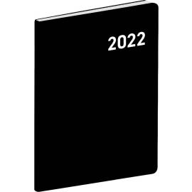 Vreckový diár Čierny 2022, plánovací mesačný, 7 × 10 cm