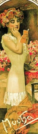 Záložka Alfons Mucha – Corsets