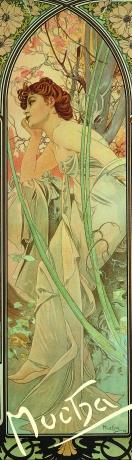 Záložka Alfons Mucha – Evening contemplation