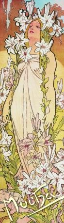 Záložka Alfons Mucha – Ľalia